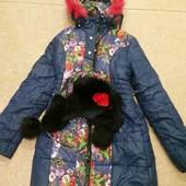 зимняя курточка в подарок шапочка