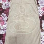 Хлопковое махровое полотенце 70*130 в отличном сост.,после прачечной, плотность высокая 550 г/м²