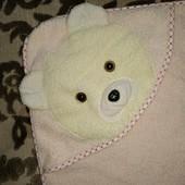 Рушник для купання немовлят. Полотенце уголок для купания малышей Медвежонок