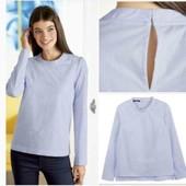Шикарная котоновпя стрейч блуза Esmara S  evro 36+6