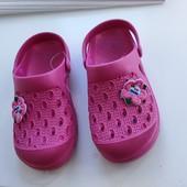 Чудові крокси сабо шльопки рожеві, квітка✓27 =18см