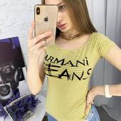 Женская футболка Armani jeans, на выбор. размер 44-46.