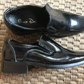Шкіряні туфельки розмір 25 стелька 17 см