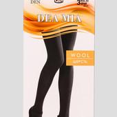 ♡ Колготки Dea Mia Wool 350 Den черный, на выбор размер 2,3,4,5