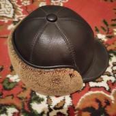 Продам шапку зимню кожану на натуральні цигейкі.