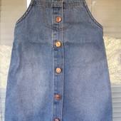 Классный джинсовый сарафан F&F на 6-7 лет