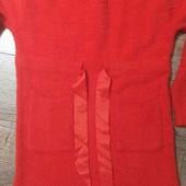 ангоровое шерстяное платье