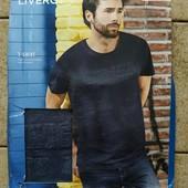 Качественная футболка с 3d эффектом из био-хлопка от Livergy (германия) размер Л