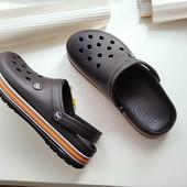 Кроксы сабо шлепки Даго стиль легкие,удобные черные 45= 29.5см