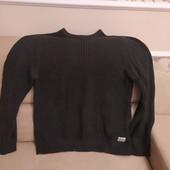 Свитер мужской фирменный цвет хаки 54 размер