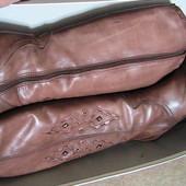 сапоги кожаные 39р Италия на цигейке зима - смотрим все фото по ссылке