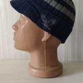 Комфортная сине -серая хлопковая шапочка с орлом на весну Dopo Boys,2-8лет