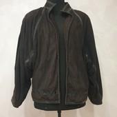 Курточка ветровка из натуральной кожи лайки, мягусенькая , размер 46-52, есть замеры