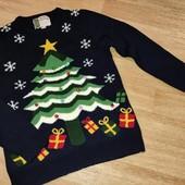 Классный свитерок ёлочка с бубенчиками М