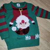 Новогодний свитерок с перевертышами George 3-4г