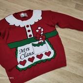 Новогодний свитерок бабушке. Миссис Санта, ХЛ