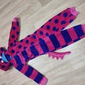 Пижамка костюм монстрика с хвостиком и мордочкой, 3-4г