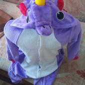 Человечек,розмір 6 лет 116 см, Unicorn, кигуруми, пижама, единорог