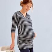 Лонгслив, рубашка, туника для дома для беременных Tchibo(Германия), размер евро 36/38