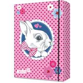 Папка для тетрадей на резинках Kite Cute Bunny K17-210-01, картон