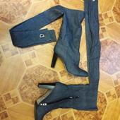 Сапоги джинсовые стильные 25 см (38размер)