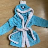 Махровый халат зайка 3-4 года