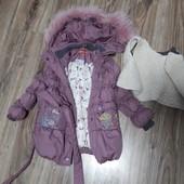 Куртка зимняя на девочку отличное состояние
