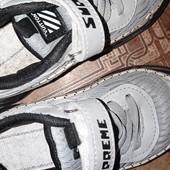 кроссовки демисезонные на липучке и шнуровке supreme