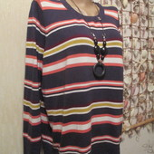 Классная трикотажная блузка-футболка на пышные формы.