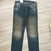C&A джинсы с потёртостями M-L