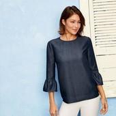 Стильная блуза esmara lyocell рукав 3/4 евро размер S 38 наш 44/46р.