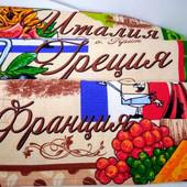 Страны! Набор красивых полотенец из хлопка! Для дома, для кухни