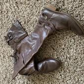 Шкіряні чоботи бу 40 р