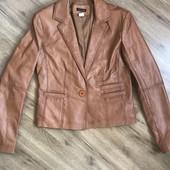 Пиджак брендовый laura clement 100% натуральная кожа овцы,очень мягкая