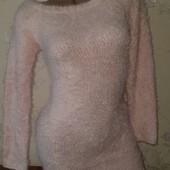 очень красивое платье с ангори в розовом цвете missguided