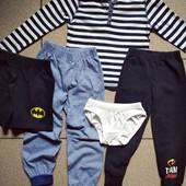 Хороший лот фирменных вещей √√ реглан ,двое штанишек ,шорты и трусики √√ на рост 104/110 см.
