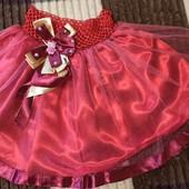 Красная, пышная юбка, нюанс фото 3-4.