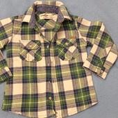Две тёплые рубашки одним лотом 2-3 года