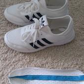 Белые кроссовки 25 см стелька