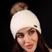 Якісна класнюча зимова шапка на флісовій підкладці