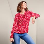 ☘ Стильна романтична блуза в ромашковому дизайні, Tchibo (Німеччина), розмір наш: 58-62 (52/54 євро)