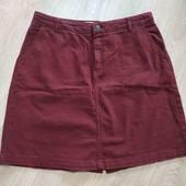 Классная джинсовая юбка с карманами, р.14 в хорошем состоянии
