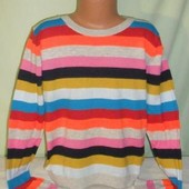Яркий хлопковый свитер Некст на 11лет рост 146