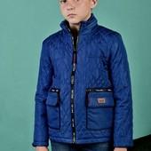 Стильная классная деми куртка на 140,146,152,158 размер маломерят см замеры цв т. Синий