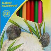 """Олівці кольорові тригранні, 12 шт. Kite """"Тварини""""або """" Міста"""". В лоті 1 на вибір"""