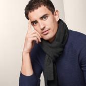☘ В'язаний шарф, антрацит Tchibo (Германия), рр. 170 х 30 см