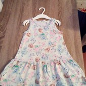 Стоп!!фирменное удобное яркое натуральное стильное красивое платье отh&m( не ношено)