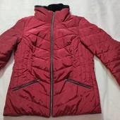 Стеганная женская деми куртка tcm tchibo, бордовая, размер s