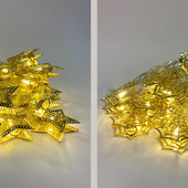 Гирлянда 20 LED металл( звезда, конус) теплый белый 20 metal-ww-4 ( 3 метра)