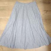 Очень модная а этом сезоне! Плиссированная юбка размер 10 наш 44-46 замеры на фото